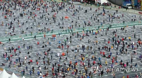 지난해 화천산천어축제장 모습