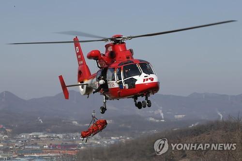 서울 119특수구조단 빙벽사고 대비 훈련[연합뉴스 자료사진]