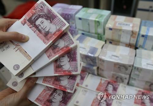 영국 파운드 지폐[연합뉴스 자료사진]