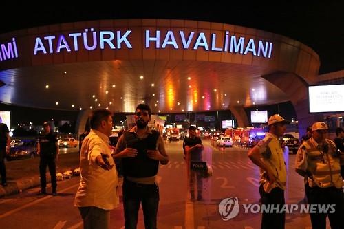 자폭테러 발생한 이스탄불공항 통제현장