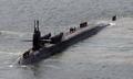 美俄亥俄号核潜艇驶入釜山海军基地