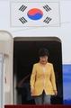 朴槿惠结束访问回国