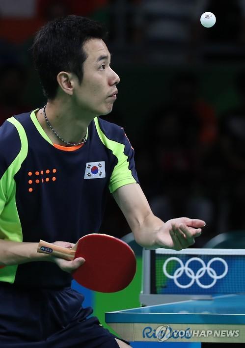 韩国乒乓球老将朱世爀