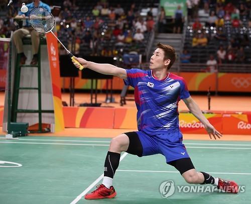 Son Wan-ho loses in badminton men's singles