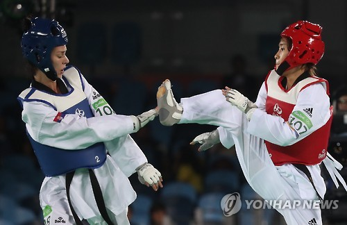 Taekwondo athlete Kim So-hui wins gold medal CR