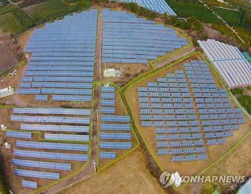 서귀포시 위미리 태양광발전시설