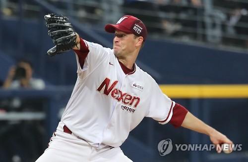 '연속 KKKKKKK' 벤헤켄 시즌 4승…넥센, LG 제압