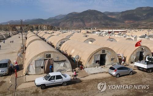 끝없이 펼쳐진 터키 난민캠프 텐트