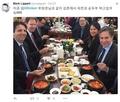 美官员在韩品尝豆腐料理