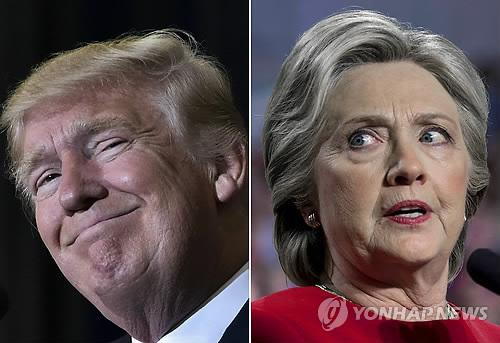 트럼프(좌) vs 클린턴