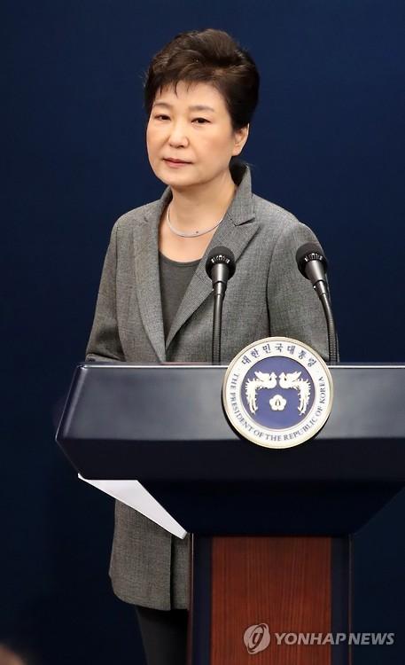 """朴대통령 """"최순실이 국정 개입하게 했다는 주장 사실 아냐"""""""