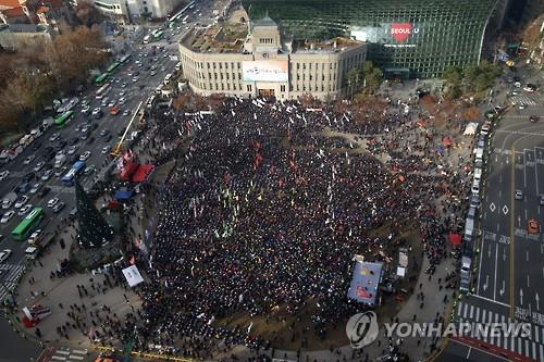 '박근혜 퇴진·시민불복종' 총파업