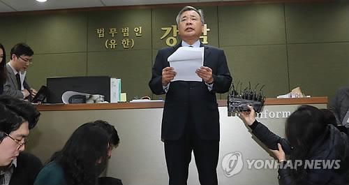 기자들 만난 박영수 특검