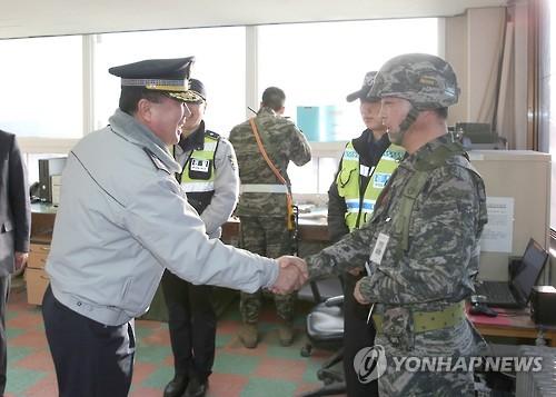 김양제 경기남부경찰청장, 최북단 애기봉 방문