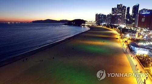 아름다운 해운대 석양과 야경[연합뉴스 자료사진'