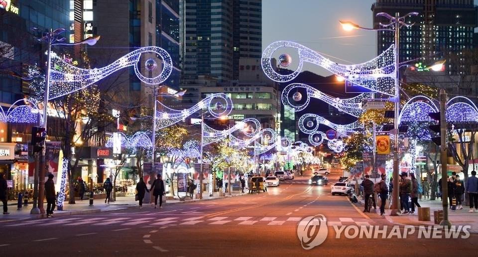 지난해 열린 해운대 빛축제'