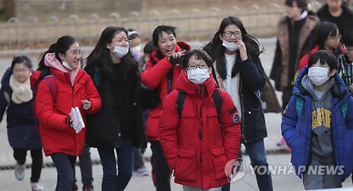 독감에 걸린 학생 1주일에 4배 급증