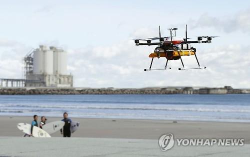 日서 드론 '완전자율 비행' 배송시험
