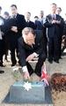Ban visits U.N. cemetery in Busan