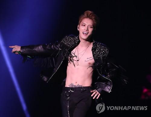 1月にソウルで公演を開いたジェジュン=(聯合ニュース)