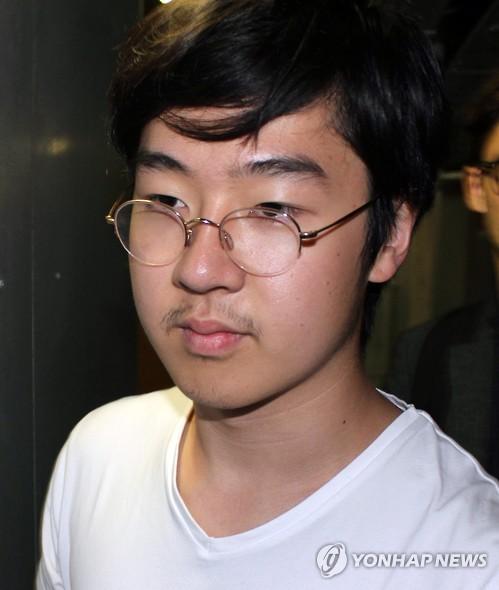 图为金韩松2013年被拍到时的模样。(韩联社)