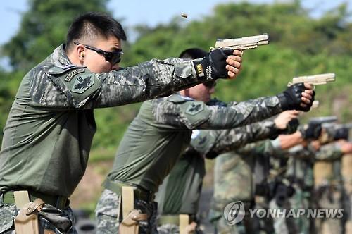 """韩海军参加""""金色眼镜蛇""""军演"""