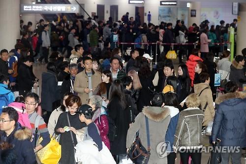 强对流导致济州机场航班延误