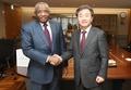 韩联社社长与苏丹驻韩大使会面