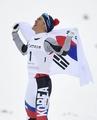 韩越野滑雪选手金芒努斯摘金