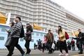 中国游客乘豪华邮轮抵釜山