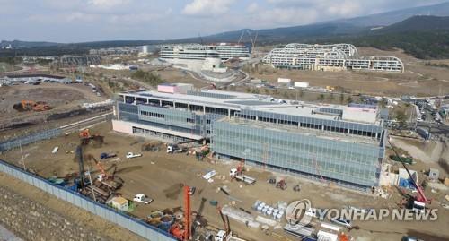 공사 한창인 녹지국제병원