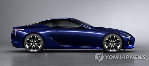 レクサス「LC500h」(韓国トヨタ自動車提供)=(聯合ニュース)