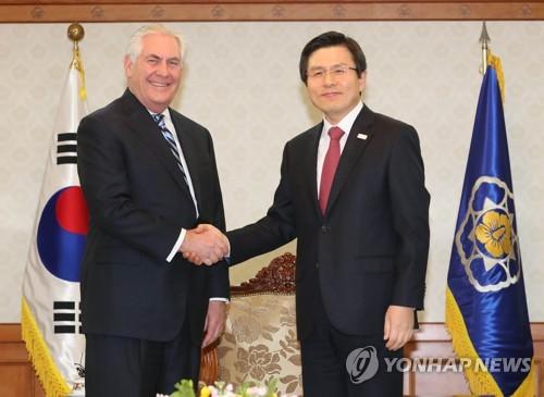 韩代总统会晤美国务卿