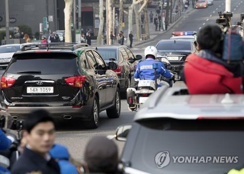 [박근혜 소환] 차량행렬