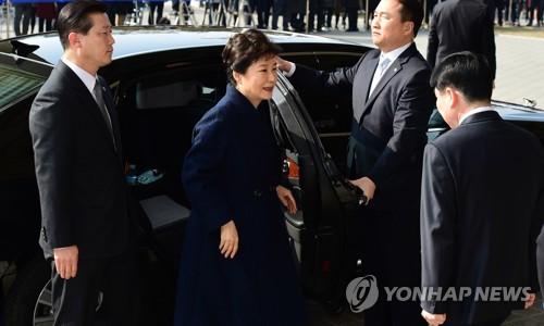 [박근혜 소환] 검찰 앞 하차
