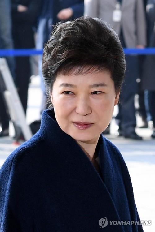 [박근혜 소환] 검찰 출석위해 이동하는 박근혜