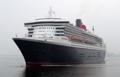 英式奢华邮轮玛丽皇后2号抵韩
