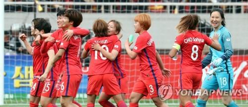 '평양 기적' 한국 여자축구, FIFA 랭킹 17→16위로 1계단 상승