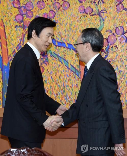 韩外长会见朝核六方会谈中方团长