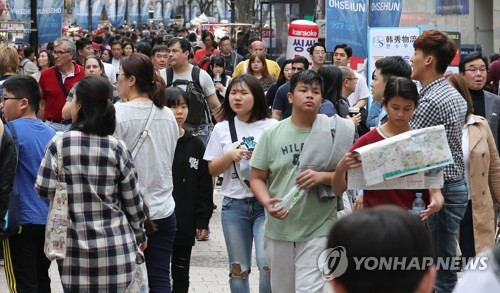 ソウルの代表的な観光スポット、明洞(資料写真)=(聯合ニュース)