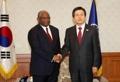 韩代总统接见安哥拉外长