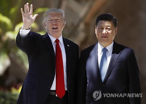 지난 4월 백악관 정상회담 당시의 도널드 트럼프(왼쪽)과 시진핑 중국 국가주석