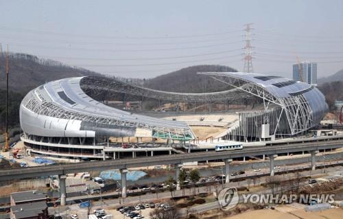 11월 개장 예정인 용인시민체육공원 내 주경기장