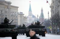 러시아 '2차 세계대전 전승 72주년' 퍼레이드 리허설