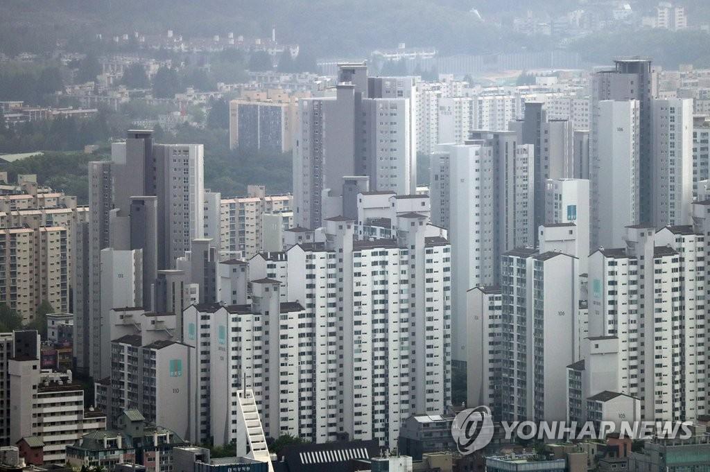 서울시 아파트단지의 모습