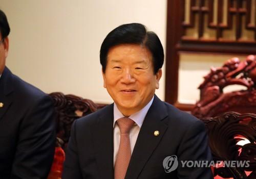 韓国代表団の団長を務める朴炳錫氏=(聯合ニュース)