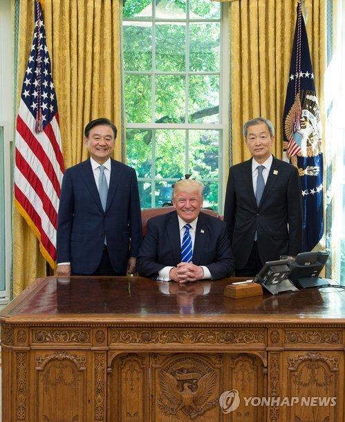 韩总统特使拜会特朗普