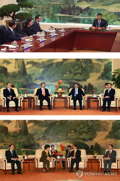 시진핑, 이해찬 특사 좌석배치에 '외교적 결례' 논란