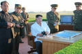 Kim Jong-un with anti-aircraft weapon