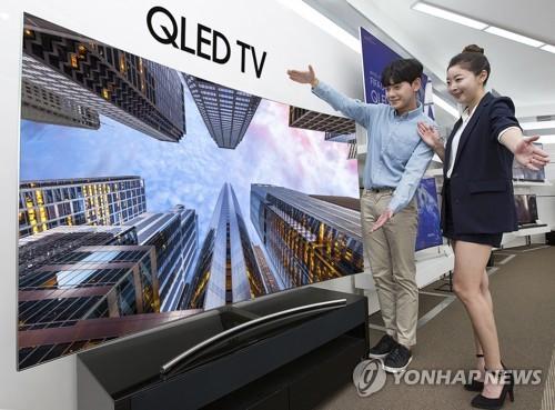 サムスン電子の超大型テレビ(同社提供)=(聯合ニュース)